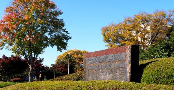 KEK構内に残されている高エネルギー物理学研究所の看板